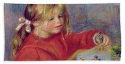 Claude Renoir At Play Beach Sheet