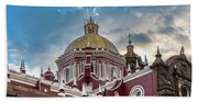 Clouds Over Puebla Cathedral Beach Towel