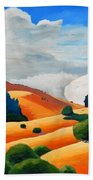 Clouds Over Windy Hill Beach Towel