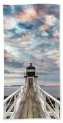 Cloudy Skies At Marshall Point Beach Towel