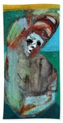 Clown At A Table Beach Towel