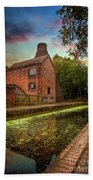 Coalport Bottle Kiln Sunset Beach Towel