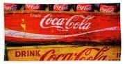 Coca Cola Crates Beach Towel