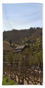 Cochem Castle And Town On Mosel In Germany Beach Towel
