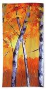 Color Forest Landscape Beach Towel