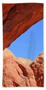 Colorado Arches, Close Up Blue Sky 3440 Beach Sheet