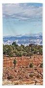 Colorado Blue Sky Red Rocks Clouds Trees 2 10212018 2857 Colorado  Beach Towel