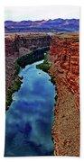 Colorado River From The Navajo Bridge 001 Beach Towel