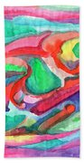 Colorful Abstraction Beach Towel