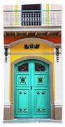 Colorful Door Beach Sheet