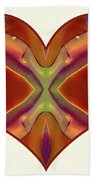 Colorful Heart - Naked Truth - Omaste Witkowski Beach Towel by Omaste Witkowski