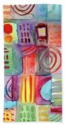 Colorful Patchwork 1- Art By Linda Woods Beach Sheet