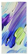 Colorful Rain Fragment 2. Abstract Painting Beach Towel