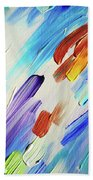 Colorful Rain Fragment 3. Abstract Painting Beach Towel