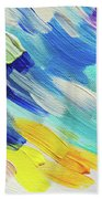 Colorful Rain Fragment 5. Abstract Painting Beach Towel