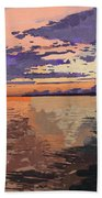 Colorful Sunset Over The Gulf Of Mexico Beach Towel