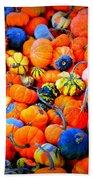 Colorful Tiny Pumpkins Beach Towel