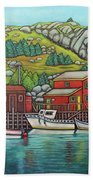 Colours Of Quidi Vidi, Newfoundland Beach Towel by Lisa Lorenz