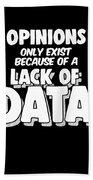 Computer Data Science Big Data Geek Pun Apparel Beach Towel