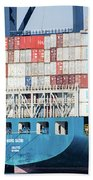 Container Ship Beach Towel