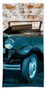 Convertible Vintage Car Beach Sheet