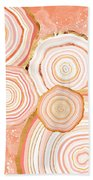 Coral Agate Abstract Beach Towel