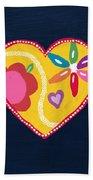 Corazon 4- Art By Linda Woods Beach Towel