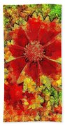 Coreopsis Abstract Beach Towel