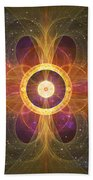 Cosmic White Hole - Star Factory Beach Towel by Shawn Dall