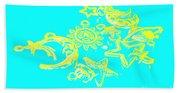 Cosmos Caricatures Beach Towel