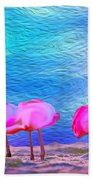 Cotton Candy Trees Beach Towel
