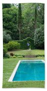 Courtyard Entrance Beach Towel