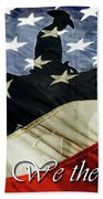 Cowboy Patriot Beach Towel