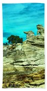 Crazy Rock Formations In New Mexico Beach Towel