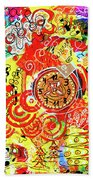 Crazy Time Beach Towel by Mimulux patricia No