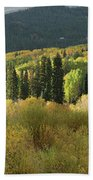Crested Butte Colorado Fall Colors Panorama - 1 Beach Towel