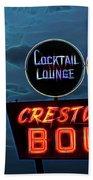 Crestwood Bowl Neon Sign Beach Towel by Robert FERD Frank