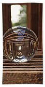 Crystal Ball In Wooden Lanterns Beach Towel