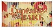 Cupcake Bake 1958 Beach Towel