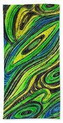Curved Lines 5 Beach Towel