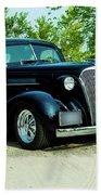 Custom 1937 Chevrolet Coupe Beach Towel
