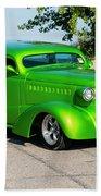 Custom 1938 Chevrolet 2 Door Coach  Beach Towel