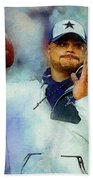 Dallas Cowboys.dak Prescott. Beach Towel