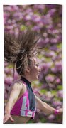 Dancing And Cherry Blossoms Beach Towel