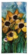 Dancing Flowers Beach Towel by Laurie Lundquist