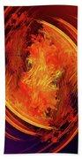 Dantes Inferno Beach Towel by Skip Hunt