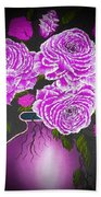 Dark And Delicious Roses In Pink Lilac Beach Towel