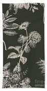 Dark Botanics  Beach Towel