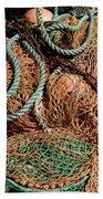 Deep Sea Fishing Nets And Buoys Beach Towel