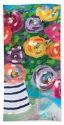 Delightful Bouquet 6- Art By Linda Woods Beach Sheet
